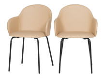 2 x Barbel Dining Chairs, Taupe