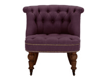 Bouji Chair, Pansy Purple and Vintage Brown