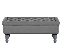 Bouji Ottoman, Graphite Grey and Slate
