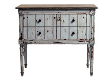 Bourbon Vintage Cabinet, Distressed Grey