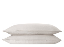 Brisa 2 x 100% Soft Washed Linen Pillowcases, Biscuit