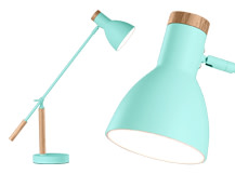 Cohen Table Lamp, Arcade Green and Natural Oak