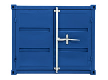 Container Tall Cabinet, Steel Blue
