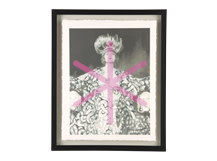 Siren Dancer Gilt Print, 30 x 40cm, Limited Edition by Coup D'Esprit, Silver and Purple