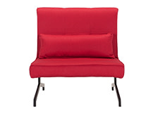 Douglas Small Sofa Bed, Sunset Red