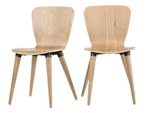 2 x Edelweiss Dining Chairs, Ash and Grey