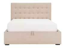Finlay Super Kingsize Bed with Storage, Biscuit Beige