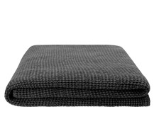 Grove 250 x 260cm 100% Cotton Stonewashed Waffle Bedspread, Charcoal