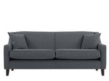 Halston 3 Seater Sofa, Charcoal Weave