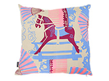 Rocking Horse Square Scatter Cushion 45 x 45cm, Rich Grey