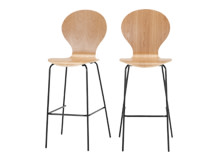 2 x Kitsch Barstool, Ash and Black Legs