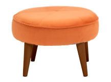 Lulu Footstool, Chatelet Orange