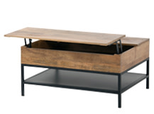 Lomond Functional Storage Coffee Table, Mango Wood and Black