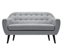 Ritchie 2 Seater Sofa, Pearl Grey