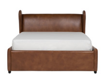 Rubens Kingsize Bed with Storage, Toffee Brown