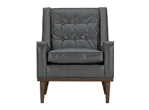 Scott Armchair, Oxford Grey Premium Leather
