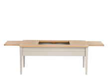 Shepperton Storage Coffee Table, Oak and Stone Grey