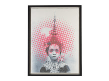 Temple Girl Silk Screen Print, 55 x 75cm, Limited Edition by Coup D'Esprit, Pink