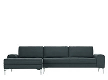 Vittorio Left Hand Facing Corner Sofa Group, Anthracite Grey
