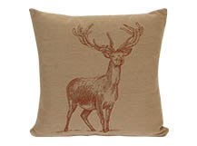 Stag Large Scatter Cushion 50 x 50cm, Bronze