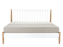 Willow Kingsize Bed, Oak and White