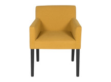 Wilton Carver Dining Chair, Yolk Yellow and Birch Black