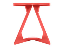 Zable Side Table, Red
