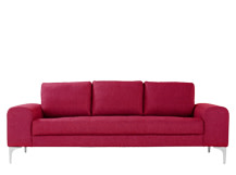 Vittorio 3 Seater Sofa, Opera Red