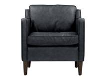 Walken Armchair, Black Premium Leather