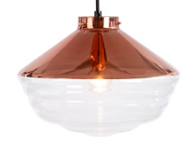 Walpole Pendant, Clear and Copper