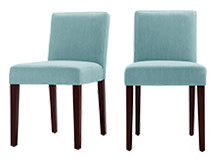 2 x Wilton Dining Chairs, Teira Blue