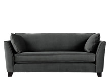 Wolseley 2 Seater Sofa, Smoke Grey Velvet
