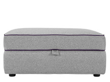 Wolseley Storage Ottoman, Wolf Grey Wool Mix