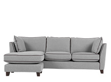 Wolseley Large Corner Sofa, Wolf Grey