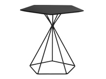 Geo Side Table, Black