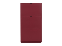 Marcell Shoe Storage Cabinet, Marsala Red