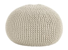 Purl Large Knitted Ottoman, Chanterelle Beige
