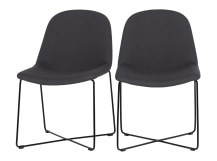 2 x Amicus Dining Chairs, Lead Grey
