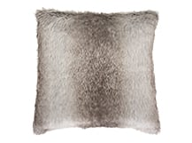 Arctic Faux Fur Scatter Cushion 45 x 45cm, Natural Grey