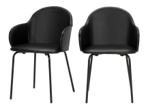 2 x Barbel Dining Chairs, Black