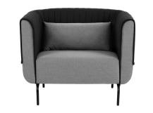 Bienno Armchair, Kestrel and Whisper Grey Wool Mix