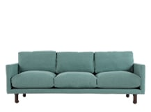 Carey 3 Seater Sofa, Turquoise Linen