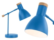 Cohen Bedside Table Lamp, Memphis Blue
