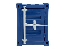Container Storage Side Table, Steel Blue