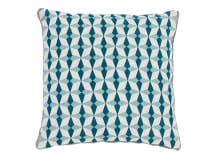 Etruria 100% Linen Cushion 50 x 50cm, Duck Egg and Teal