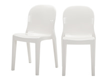 2 x Jelly Acrylic Chairs, Glossy White