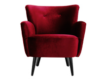 Lotus Armchair, Crimson Red