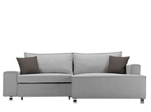 Mayne Right Hand Facing Corner Sofa Bed, Clear Grey Stone