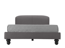 Orson Double Bed, Graphite Grey