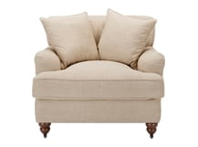Orson Scatter Back Armchair, Biscuit Beige